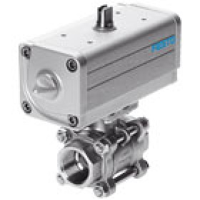 Ball valves and ball valve actuator units VZBA FESTO
